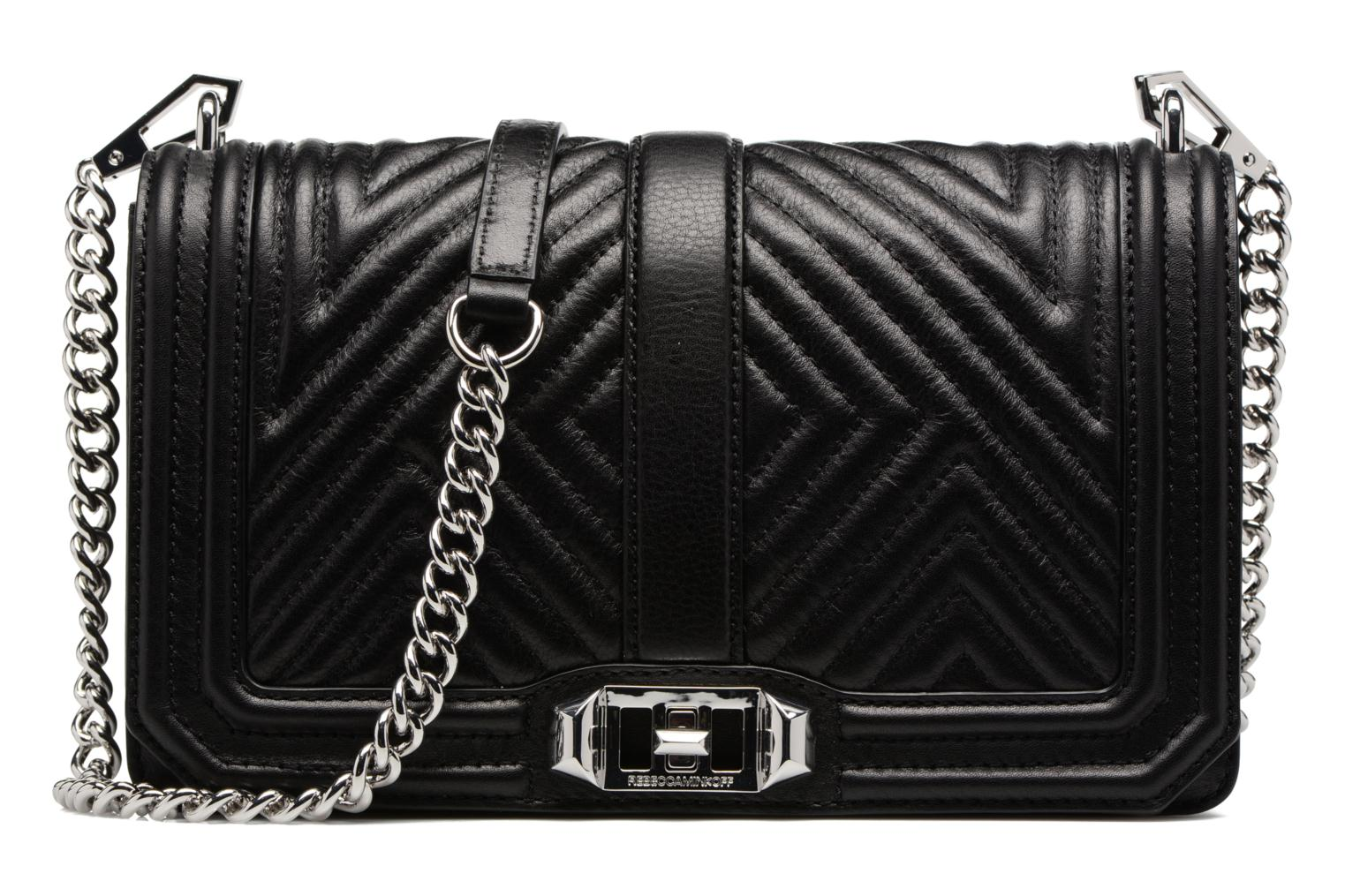 Geo quilted Love Crossbody 001 black