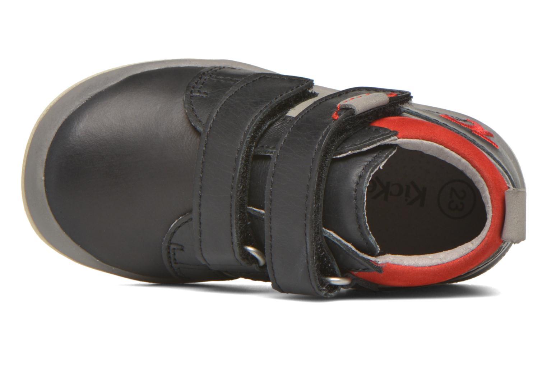 Noir gris rouge Kickers Gowaou (Bleu)