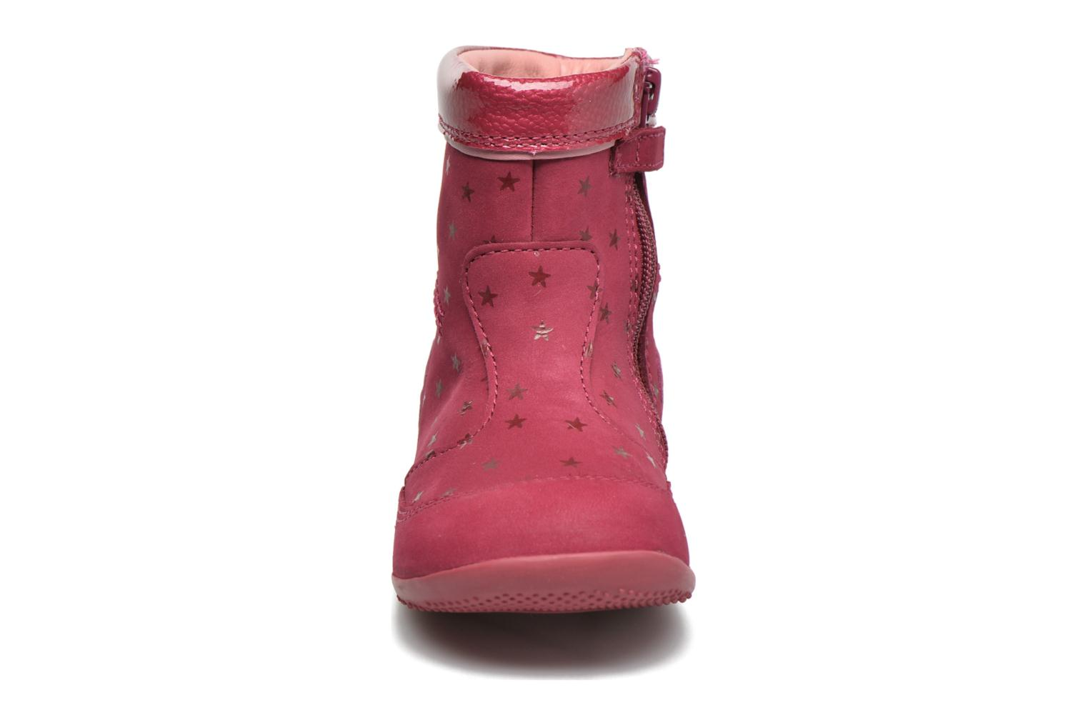 Bottes Kickers Bigaro Rose vue portées chaussures