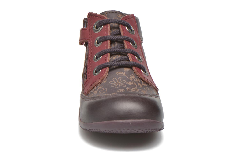 Bottines et boots Kickers Biflore Violet vue portées chaussures