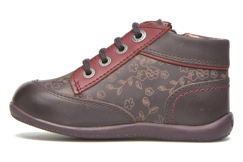 Bottines et boots Kickers Biflore Violet vue face