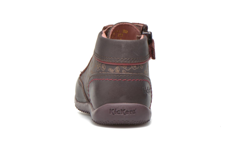 Bottines et boots Kickers Biflore Violet vue droite