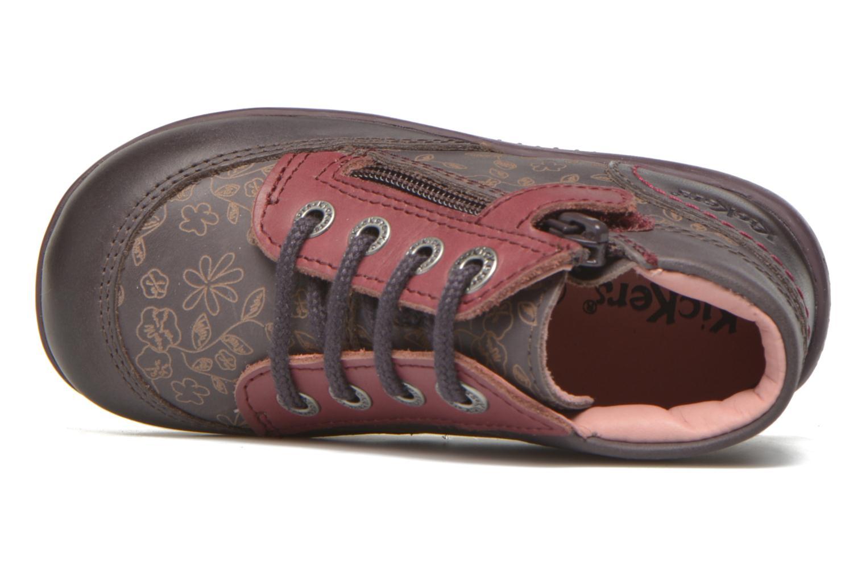Bottines et boots Kickers Biflore Violet vue gauche
