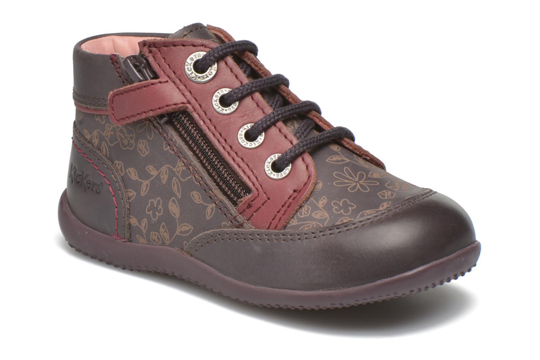 Bottines et boots Kickers Biflore Violet vue détail/paire