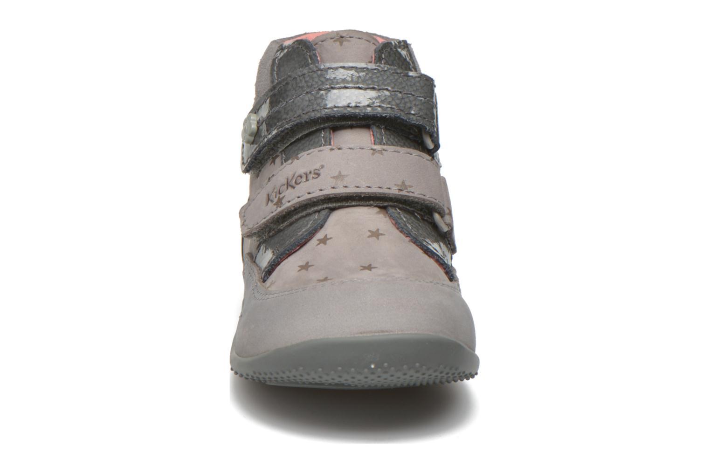 Bottines et boots Kickers Biliana Gris vue portées chaussures