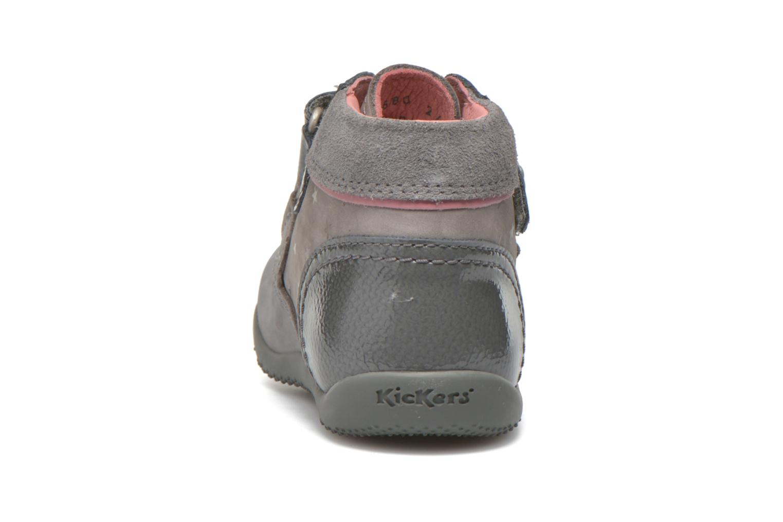 Bottines et boots Kickers Biliana Gris vue droite