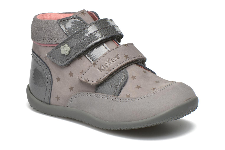 Bottines et boots Kickers Biliana Gris vue détail/paire