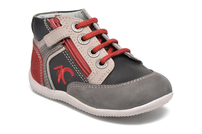 Bottines et boots Kickers Barney Gris vue détail/paire