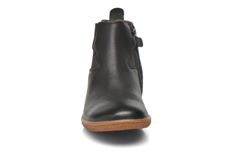 Bottines et boots Kickers Vermillon Noir vue portées chaussures