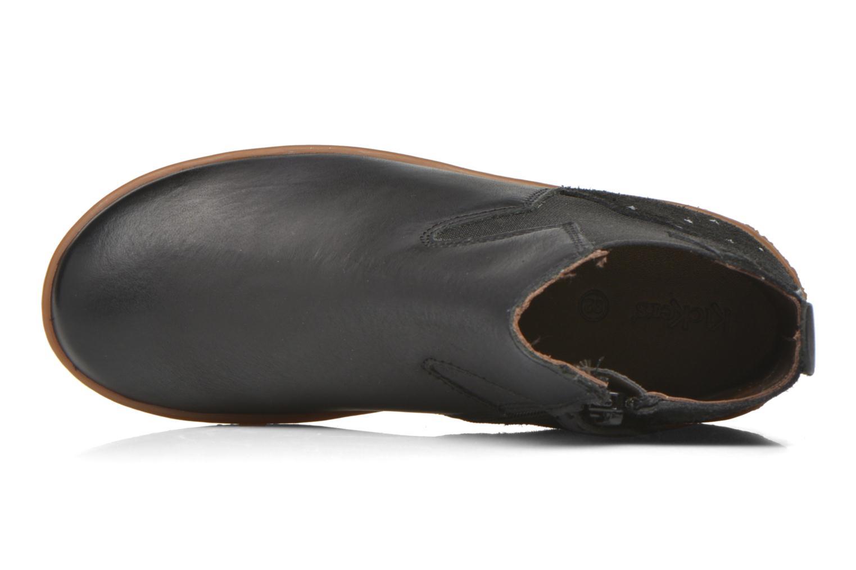 Bottines et boots Kickers Vermillon Noir vue gauche