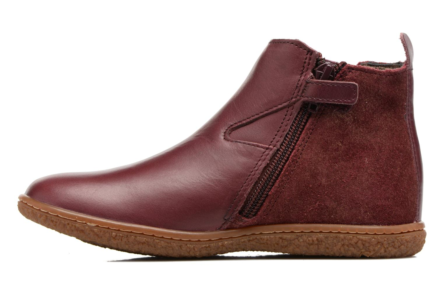 Bottines et boots Kickers Vermillon Bordeaux vue face