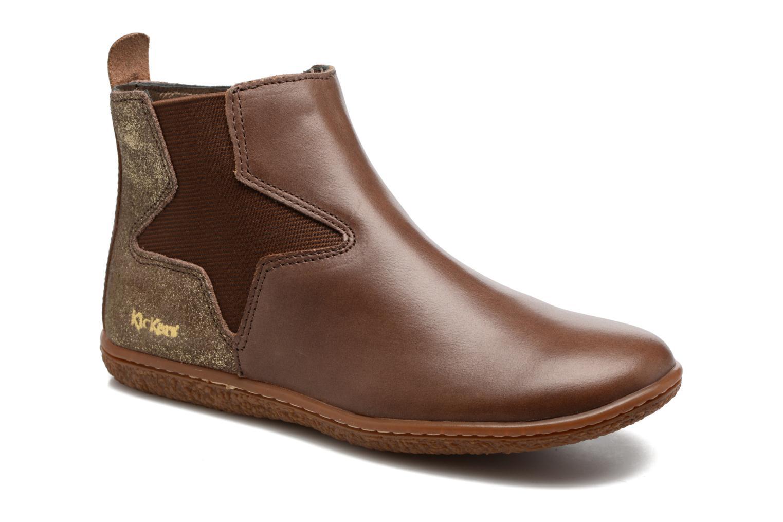Bottines et boots Kickers Vermillon Marron vue détail/paire
