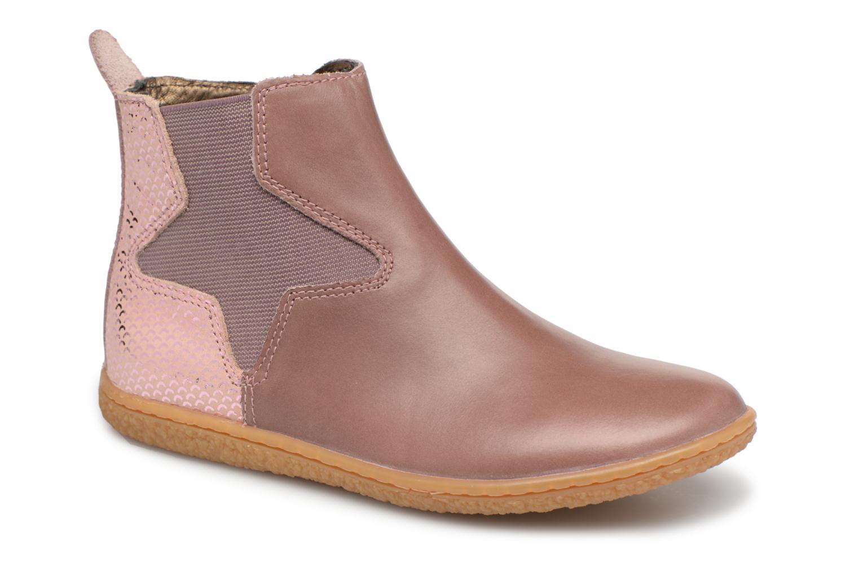 Bottines et boots Kickers Vermillon Rose vue détail/paire