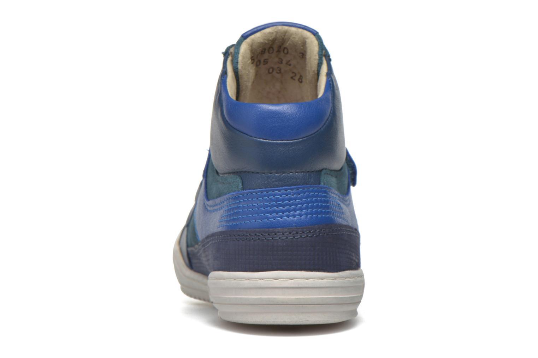 Baskets Kickers Jinjinu Bleu vue droite