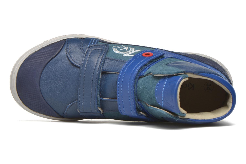 Baskets Kickers Jinjinu Bleu vue gauche