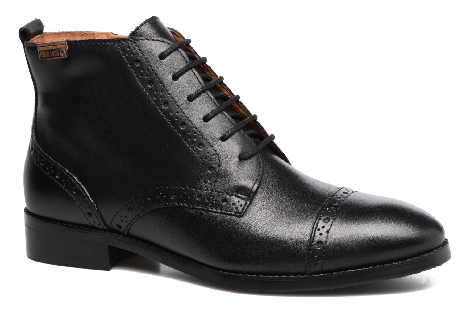 Ankle boots Pikolinos Royal W4D-8717 Black detailed view/ Pair view