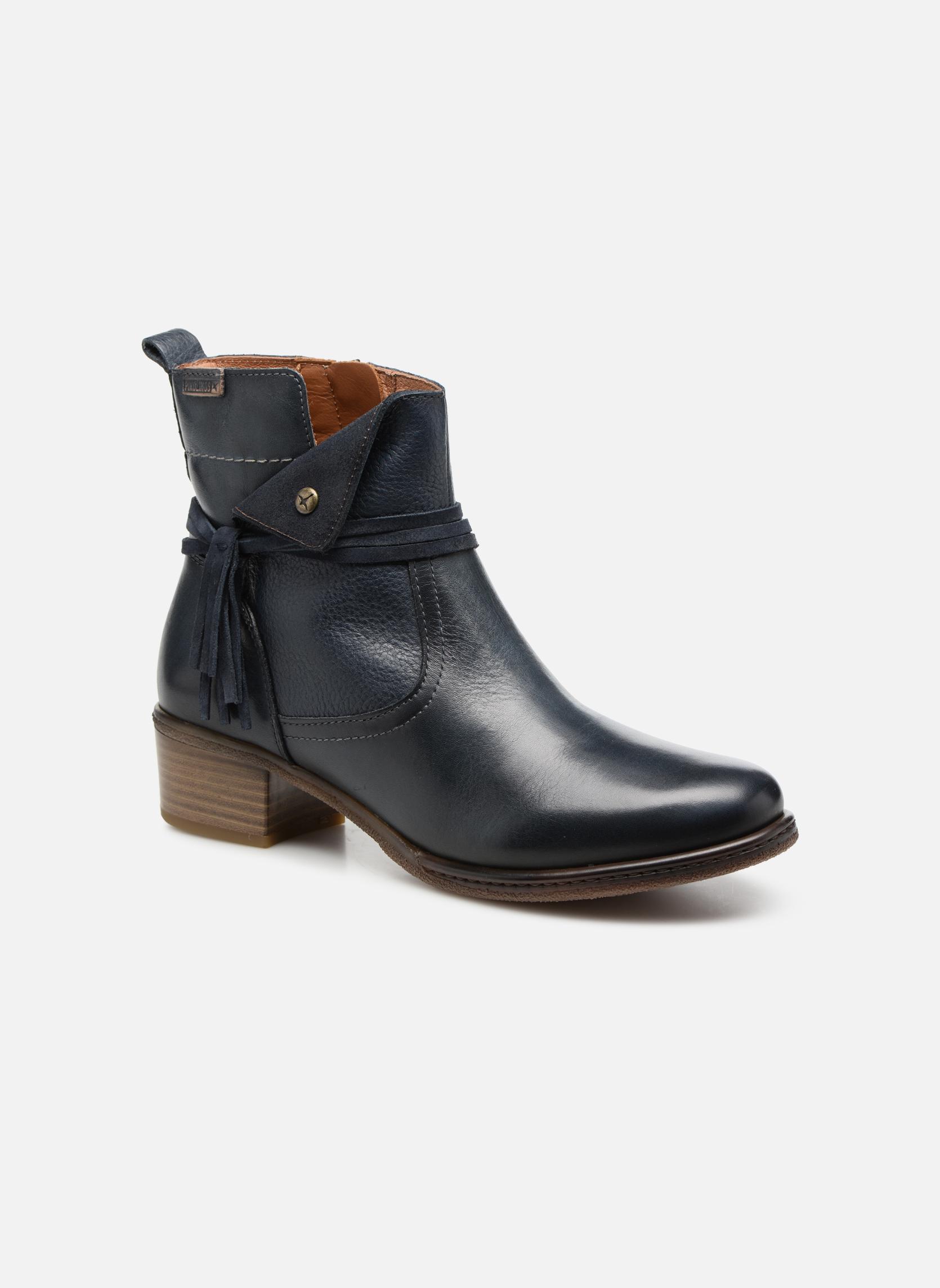 Bottines et boots Pikolinos Zaragoza W9H-8800 Bleu vue détail/paire