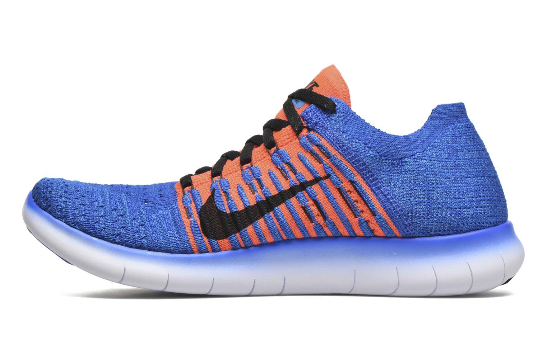 Sneakers Nike Nike Free Rn Flyknit (Gs) Blauw voorkant
