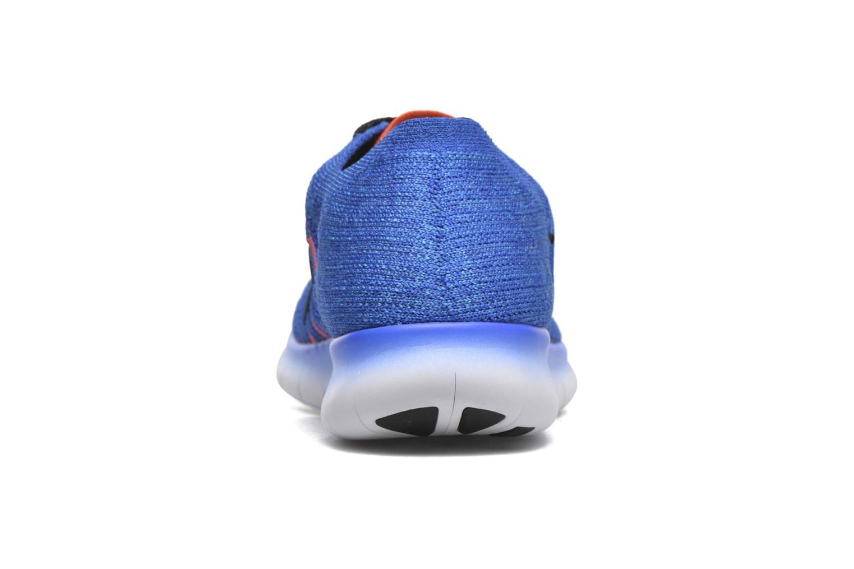 Sneakers Nike Nike Free Rn Flyknit (Gs) Blauw rechts