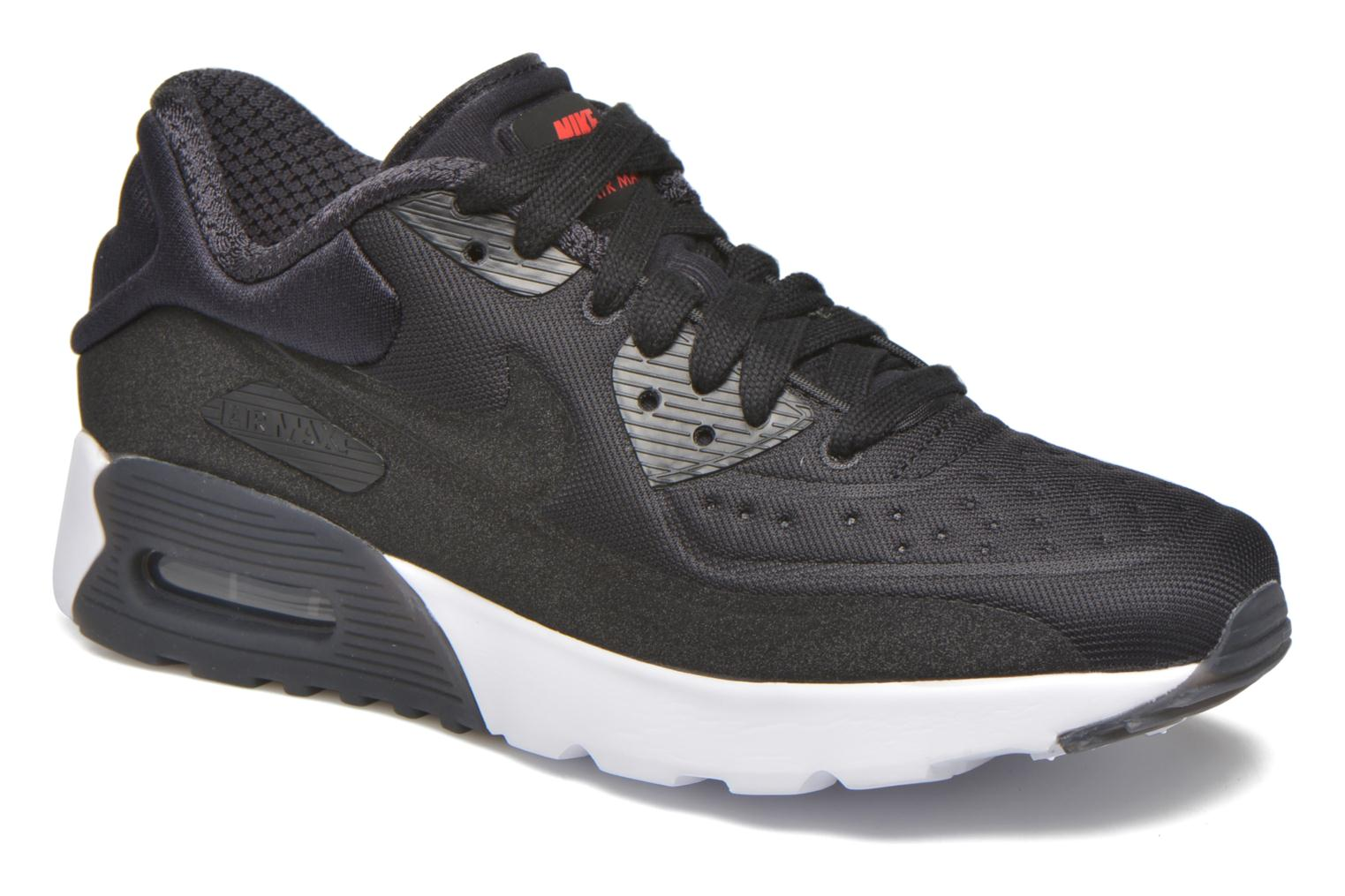 Air Max 90 Ultra PRM GS Black Black-Univ Red-White