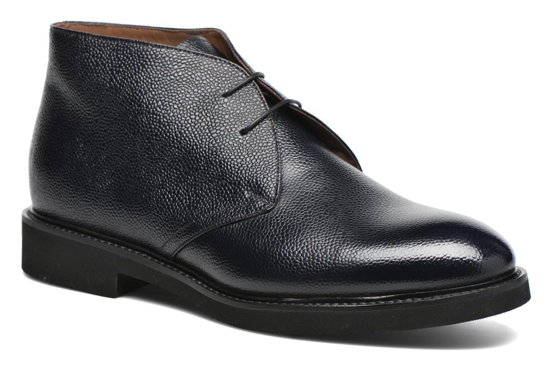 Snörade skor Doucal's Bruno Verona Royal Blå detaljerad bild på paret