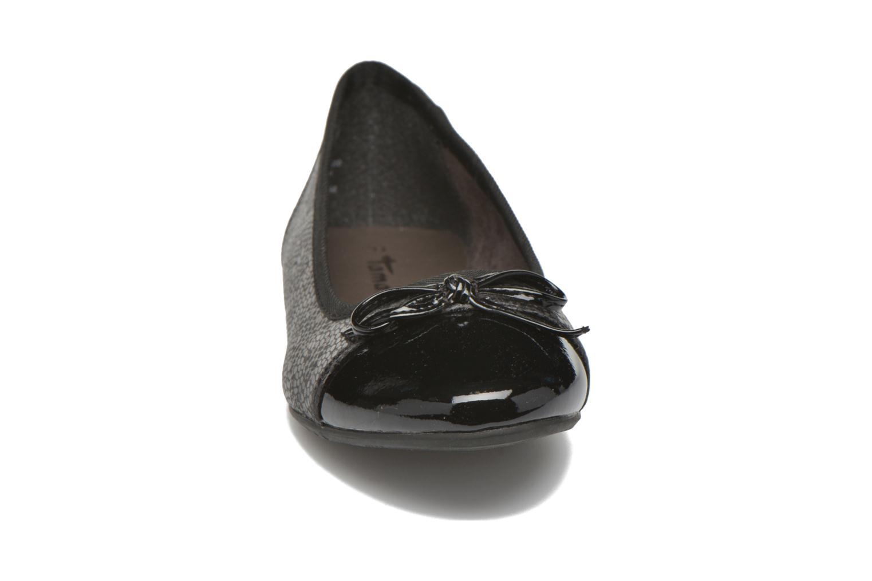 Ballerines Tamaris Tenella Noir vue portées chaussures