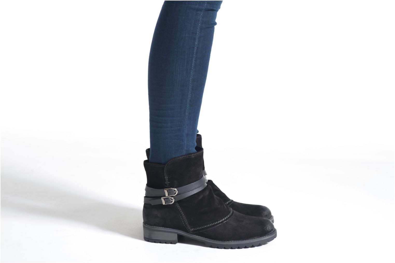 Bottines et boots Tamaris Massonia Noir vue bas / vue portée sac