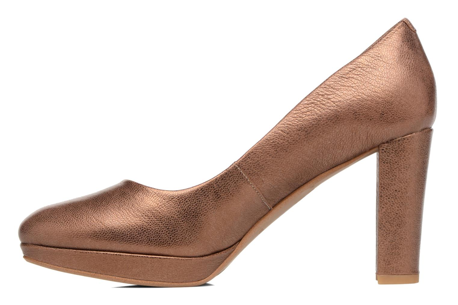 High heels Clarks Kendra Sienna Bronze and Gold front view