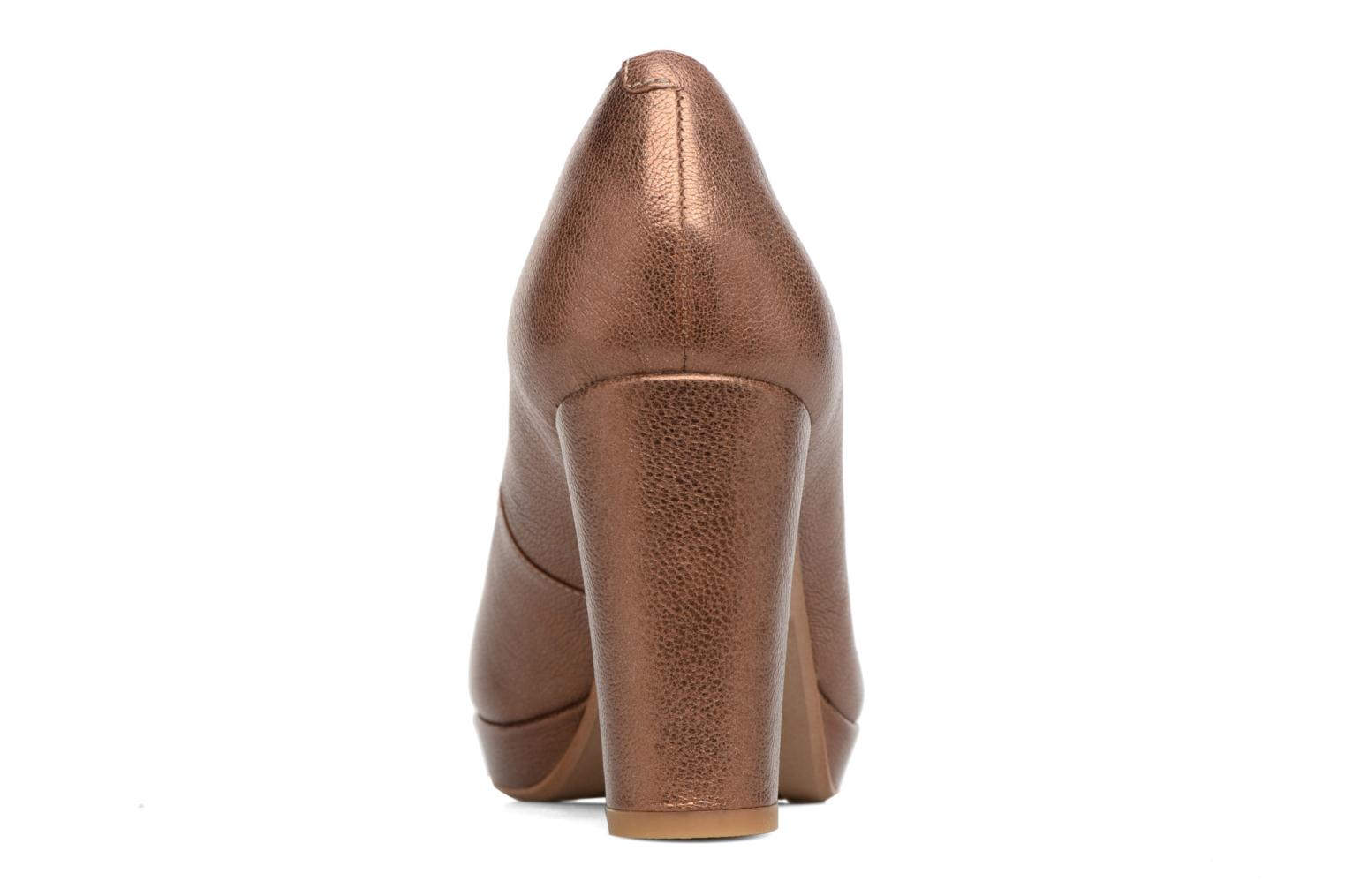 High heels Clarks Kendra Sienna Bronze and Gold view from the right