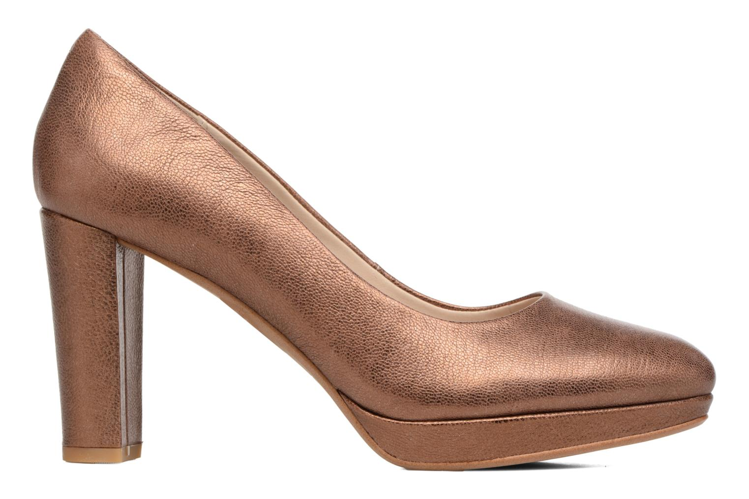 High heels Clarks Kendra Sienna Bronze and Gold back view