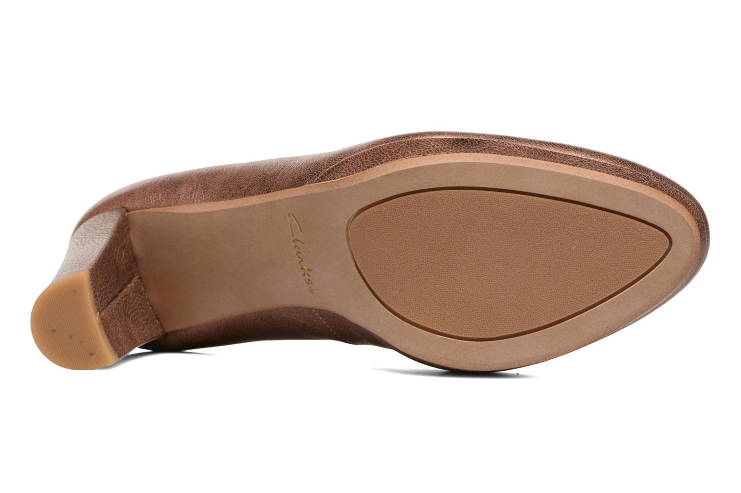 High heels Clarks Kendra Sienna Bronze and Gold view from above