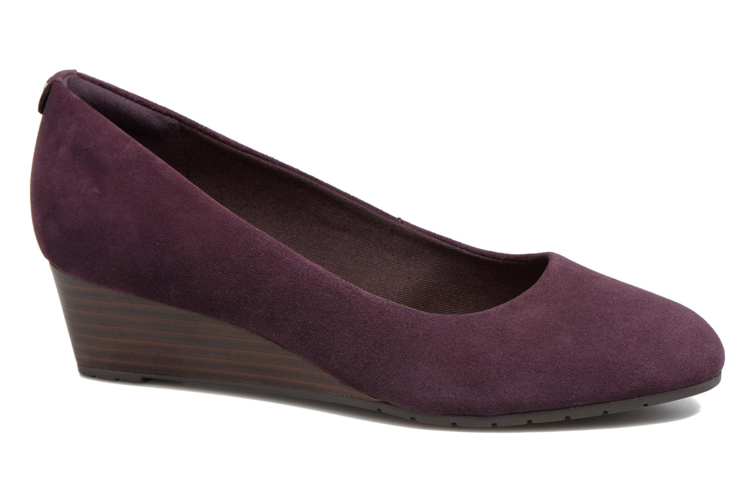 Escarpins Clarks Vendra Bloom Violet vue détail/paire