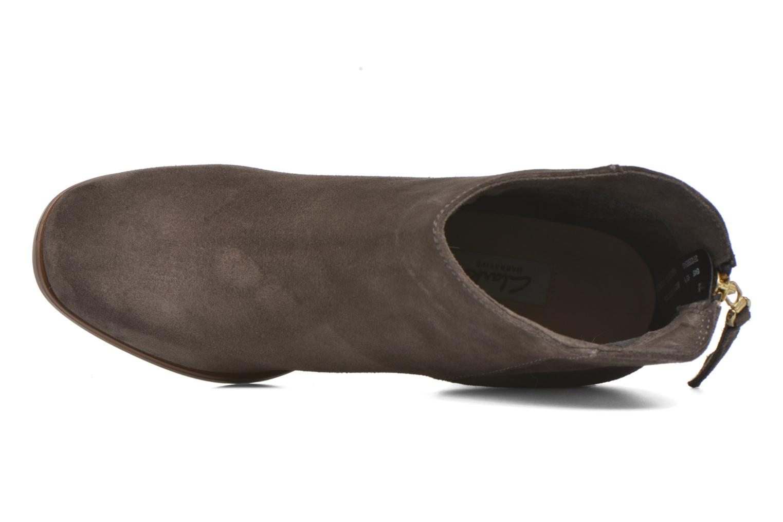 Bottines et boots Clarks Lora Lana Gris vue gauche