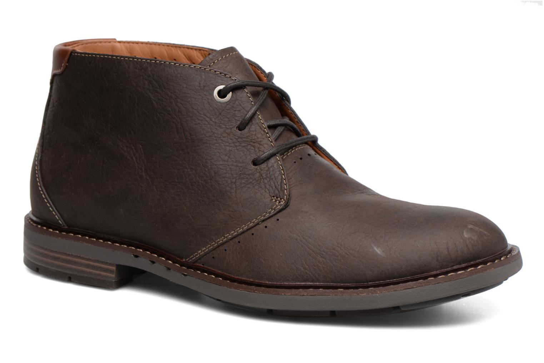 Snøresko Clarks Unelott Mid Brun detaljeret billede af skoene