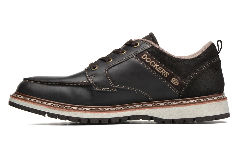 Chaussures à lacets Dockers Alexi Marron vue face