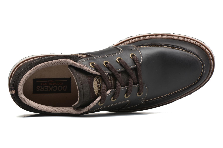 Chaussures à lacets Dockers Alexi Marron vue gauche