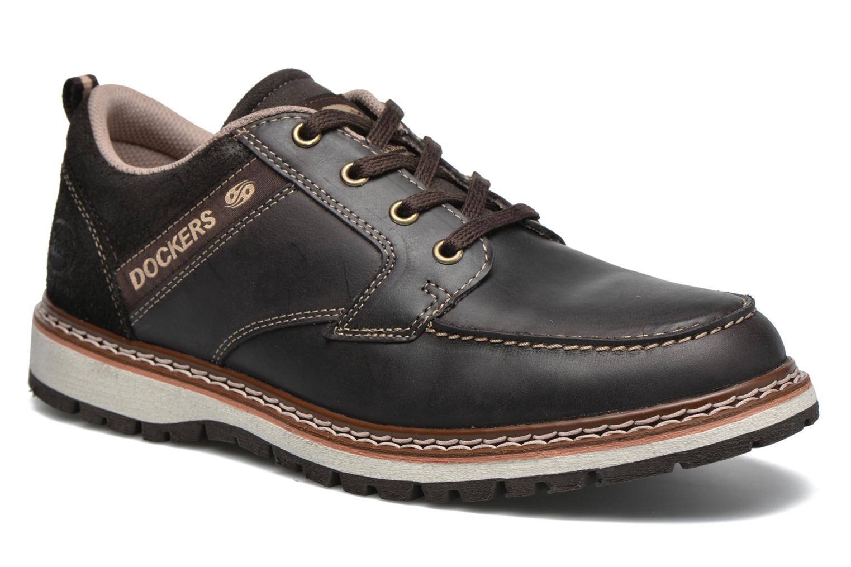Chaussures à lacets Dockers Alexi Marron vue détail/paire