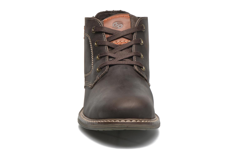 Chaussures à lacets Dockers Otmar Marron vue portées chaussures