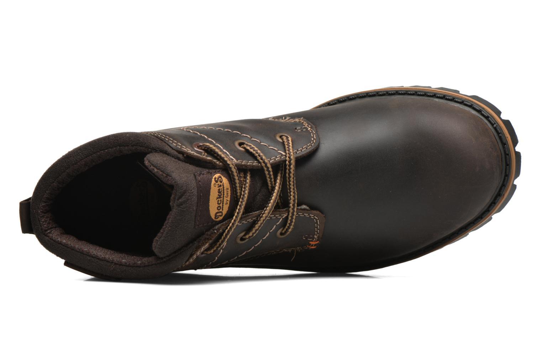 Chaussures à lacets Dockers Hanz Marron vue gauche