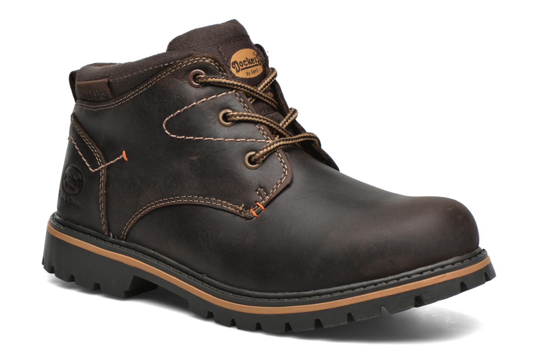 Chaussures à lacets Dockers Hanz Marron vue détail/paire
