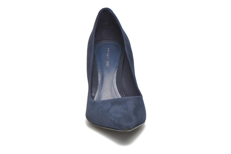 Escarpins COSMOPARIS Abelina/Nub Bleu vue portées chaussures