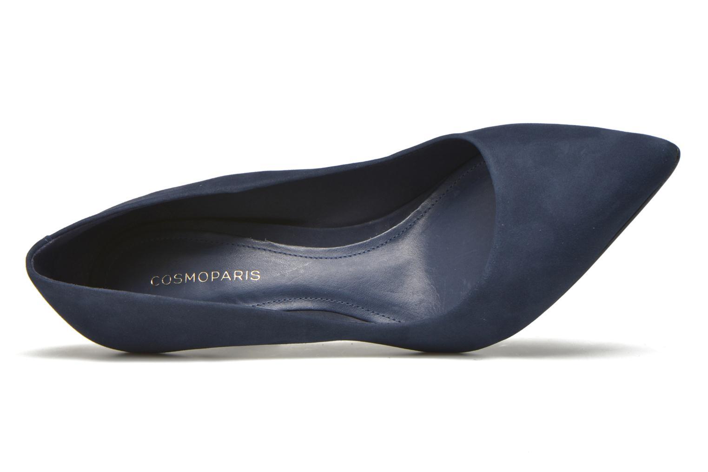 Escarpins COSMOPARIS Abelina/Nub Bleu vue gauche
