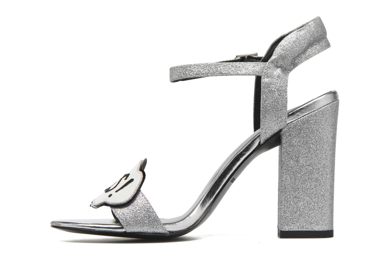 Sandales et nu-pieds COSMOPARIS Jokes/Diam Argent vue face