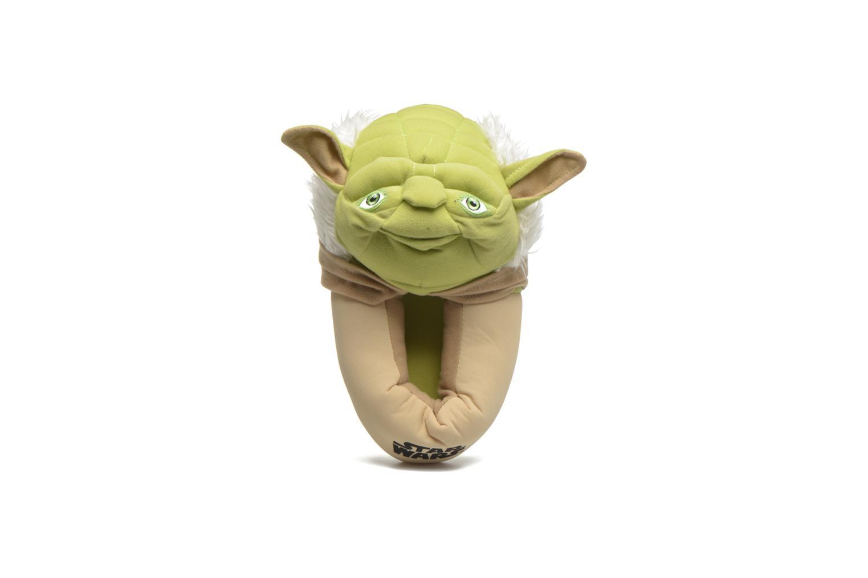Chaussons Star Wars Yoda 3D Vert vue 3/4