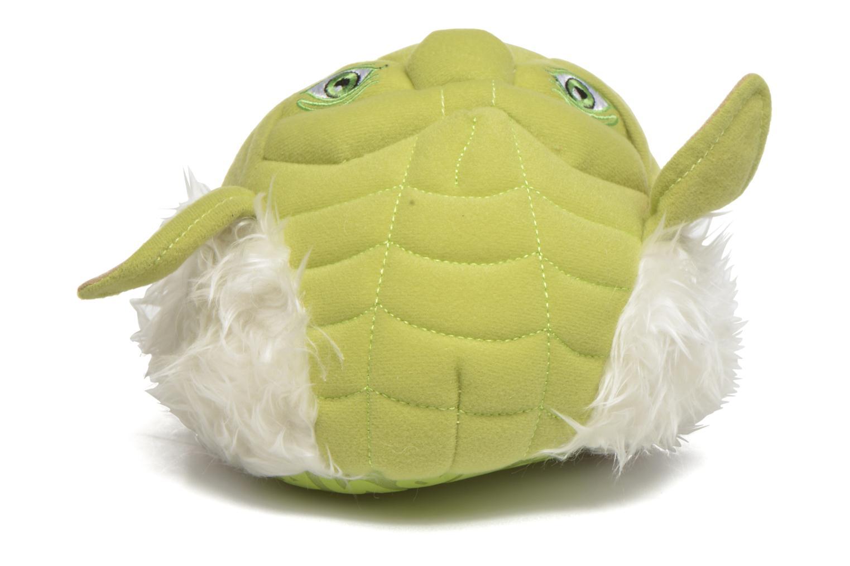 Chaussons Star Wars Yoda 3D Vert vue portées chaussures