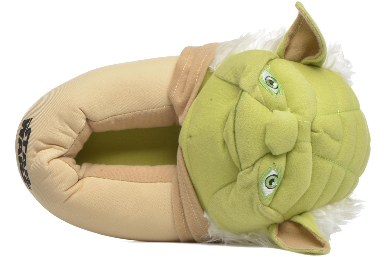 Chaussons Star Wars Yoda 3D Vert vue gauche
