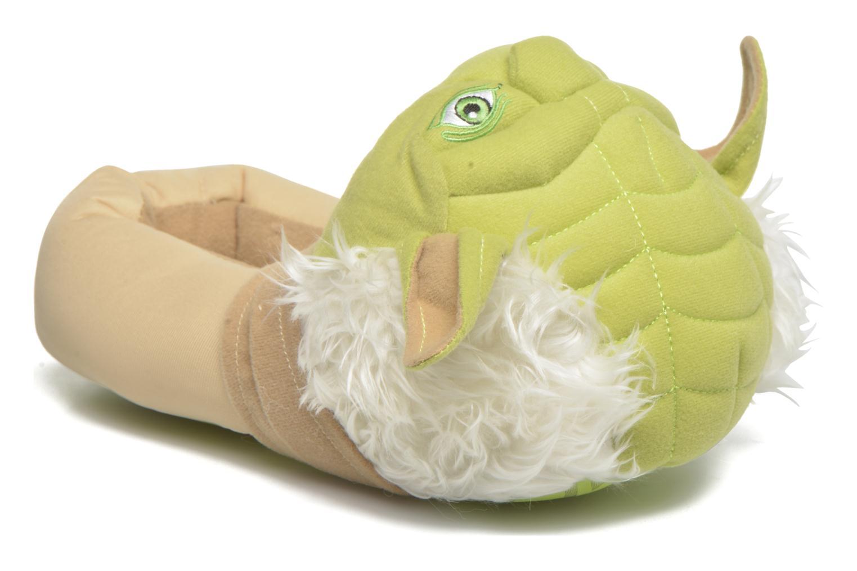 Chaussons Star Wars Yoda 3D Vert vue détail/paire