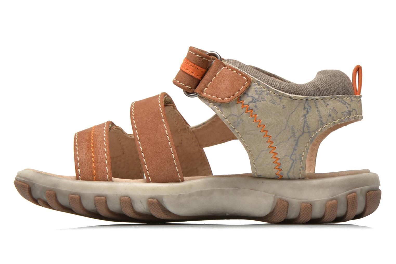Sandales et nu-pieds NA! Avocat Marron vue face