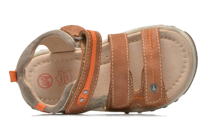 Sandales et nu-pieds NA! Avocat Marron vue gauche