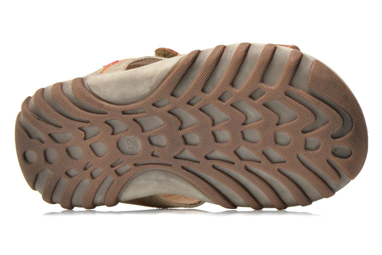 Sandales et nu-pieds NA! Avocat Marron vue haut